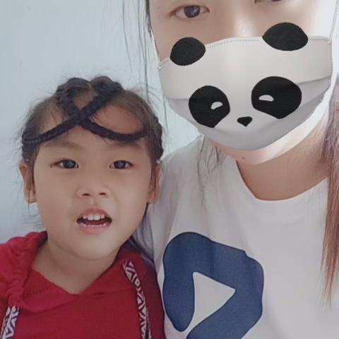 口罩之熊猫宝宝[得意][得意]